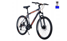 Велосипед 26' HARTMAN Dragster PRO Disk.р 17', 21 ск., чёрный серебристый красный матовый