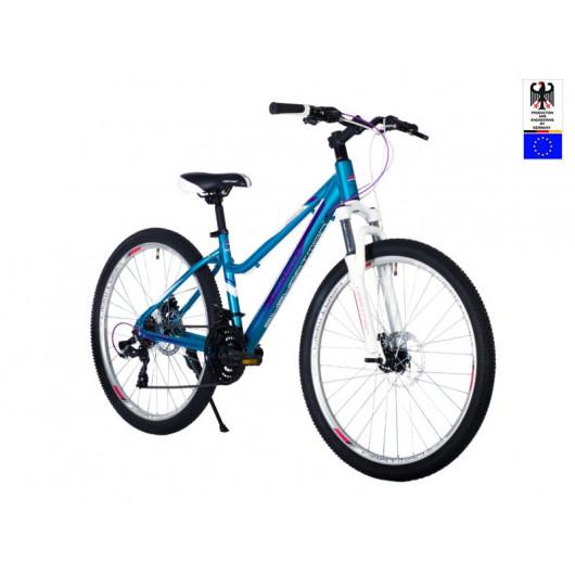 Велосипед 26' HARTMAN Sintra disk р.15' 21 скр.аллюм.синий белый глянец