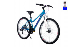 Велосипед 26' HARTMAN Sintra disk р.17' 21 скр.аллюм.синий белый глянец