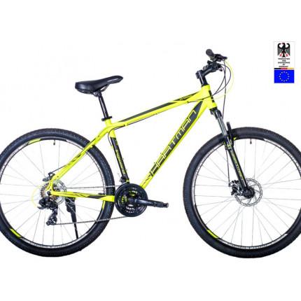 Горный велосипед 29' hartman ingword disk р.17' 21 скр.аллюм.зелёный неон чёрный матовый