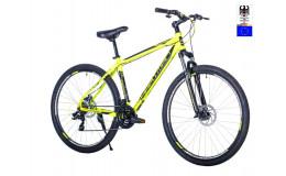 Велосипед 29' HARTMAN Ingword disk р.21' 21 скр.аллюм.зелёный неон чёрный матовый
