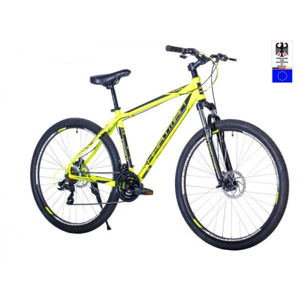 Горный велосипед 29' hartman ingword disk р.21' 21 скр.аллюм.зелёный неон чёрный матовый