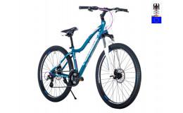 Велосипед 27,5' HARTMAN Ultra Pro disk р.15' 21 скр.аллюм.тёмно-серый синий розовый матовый
