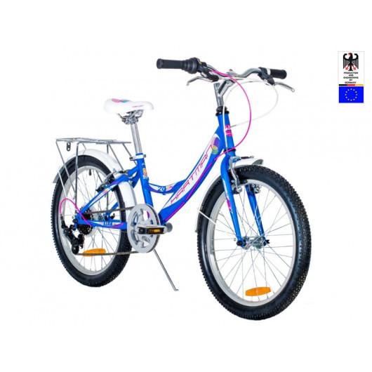 Подростковый велосипед 24' hartman alba pro disk р.13', 6 ск., рама алюм , белый сиреневый матовый
