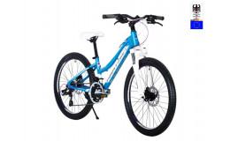 Велосипед 24' HARTMAN Diora PRO Disk р.13', 18 ск., рама алюм , голубой сиреневый матовый