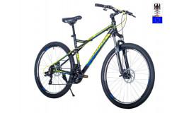 Велосипед 27,5' HARTMAN Black stone Pro р.19' 21 скр.аллюм.чёрный зелёный матовый