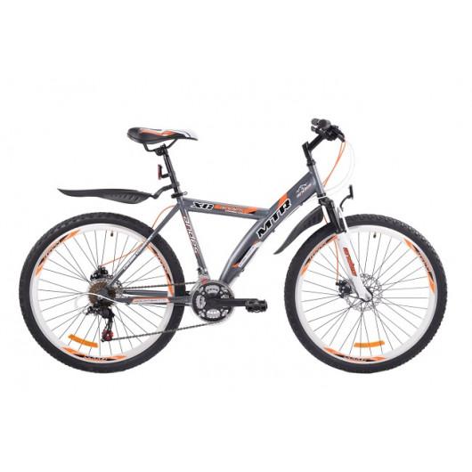 Горный велосипед 24'' mtr andes d gw-b424 d серебро-оранжевый