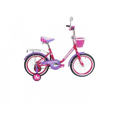 Детский велосипед 18' ва princess kg1802 розово-сиреневый (розовый)