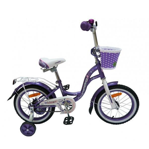 Детский велосипед 16' nameless lady фиолетовый/белый