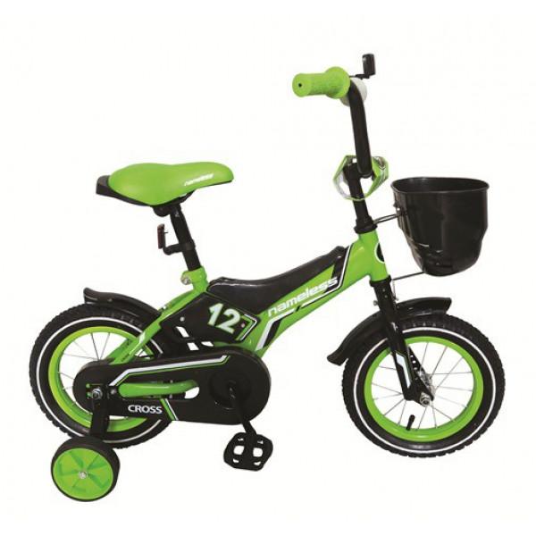 Детский велосипед 18' nameless cross черный/зеленый