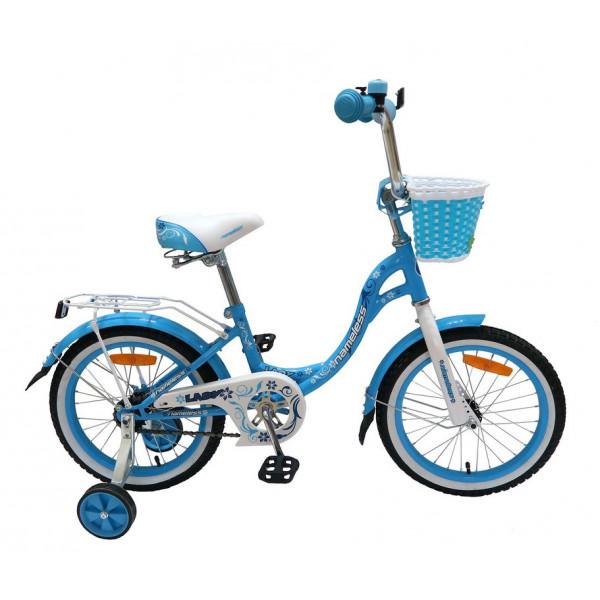 Детский велосипед 20' nameless lady голубой/белый