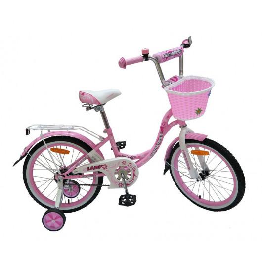 Детский велосипед 20' nameless lady розовый/белый