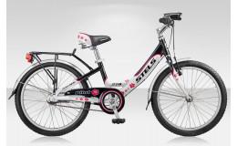 Велосипед 20'' Stels Pilot 220 Lady 3-sp. AL чёрный/белый/розовый