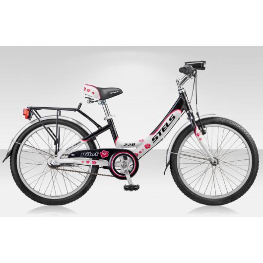 Подростковый велосипед 20'' stels pilot 220 lady 3-sp. al чёрный/белый/розовый