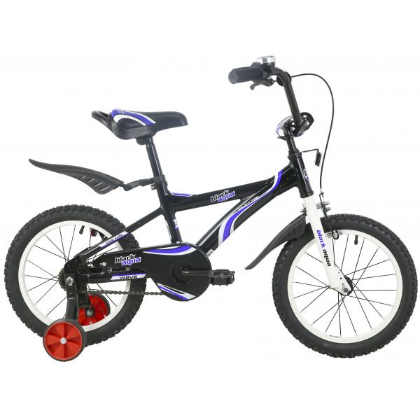 Детский велосипед 18' ва wave ва 1801 черно-синий