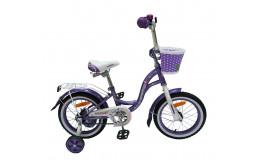 Детский велосипед 14' nameless lady, фиолетовый/белый