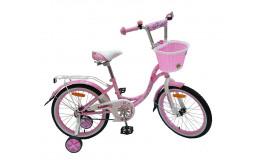 Детский велосипед 14' nameless lady, розовый/белый