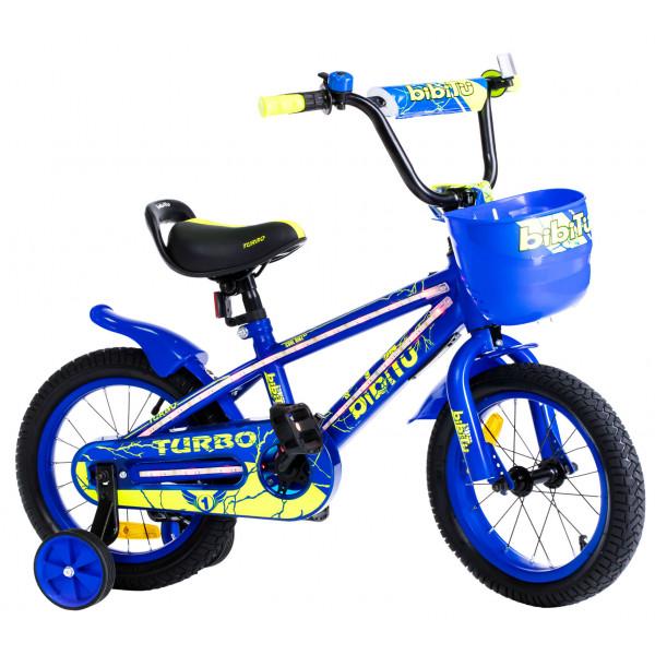 Детский велосипед 16' bibitu turbo, голубой