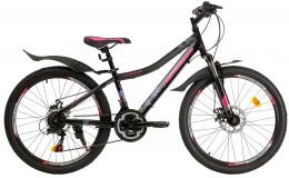 Велосипед 24 Nameless J4000DW, черный/ розовый