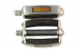 Педали метало-резиновые овальные в метал. окант с резьбой М14х1,25