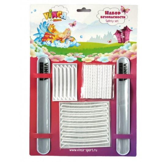Защитный набор для детей - два браслета, накладки на обод, накладки на спицы, наклейки на шлемSTA115