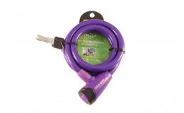 Велозамок тросовый арт. 101.565(12) фиолетовый