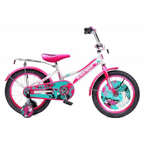 Детский велосипед 16' ba girlybike hh-1606-t (бело-розовый)