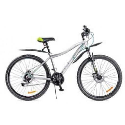 Горный велосипед 27,5' ва black aqua cross 2781 d matt 27,5' серо-белый gl-401d