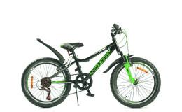 Велосипед BLACK AQUA Cross 1201 V 20 2018 черно-зеленый GL-102V