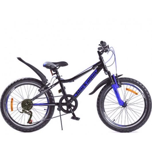 Горный велосипед 20' ва cross 1201 v черно-синий gl-102v