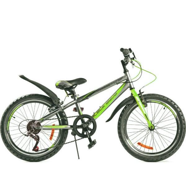 Горный велосипед 20' ва city 1201 v matt серо-зеленый gl-101v