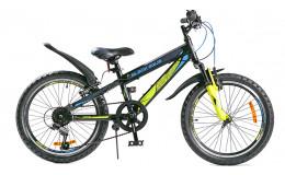 Велосипед BLACK AQUA Cross 2221 V matt 20 черно-синий GL-110V