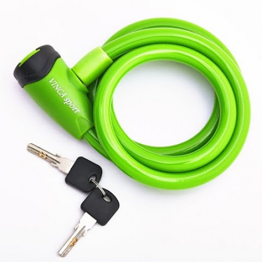 Велозамок тросовый арт. VS 565(10*1200мм) зелёный