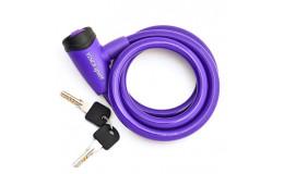 Велозамок тросовый арт. VS 565(10*1200мм) фиолетовый