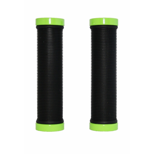 Грипсы с метал. зажимами, H-G 119, черные, зажим светло зеленый