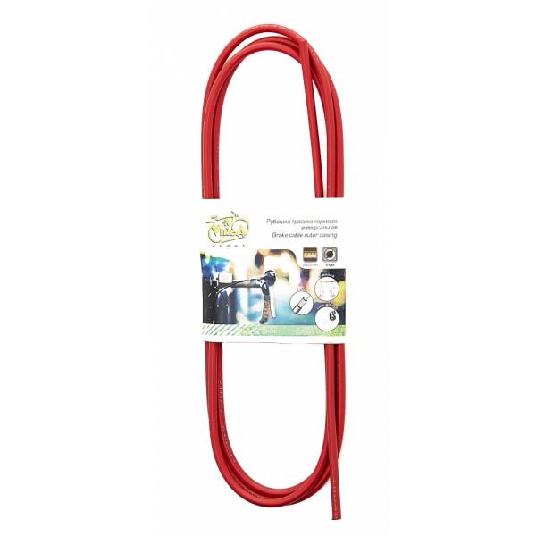 Оплетка тросика тормоза, диаметр - 5мм, длина - 2м, VSC 2 red