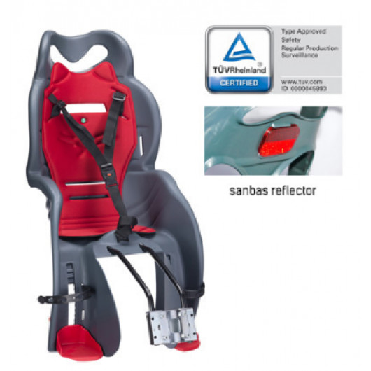 Кресло детское с креплением под седло HTP 918 light grey/red