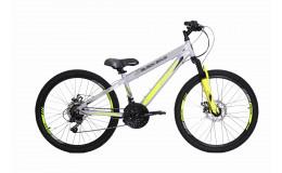 Велосипед BLACK AQUA Cross 2481 V matt 24 серо-лимонный GL-214D