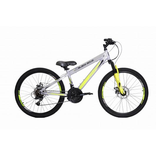 Горный велосипед black aqua cross 2481 v matt 24 серо-лимонный gl-214d