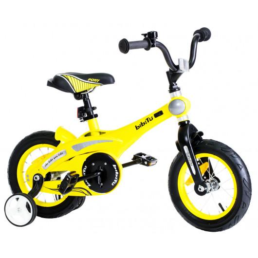 Детский велосипед 12' bibitu pony, белый