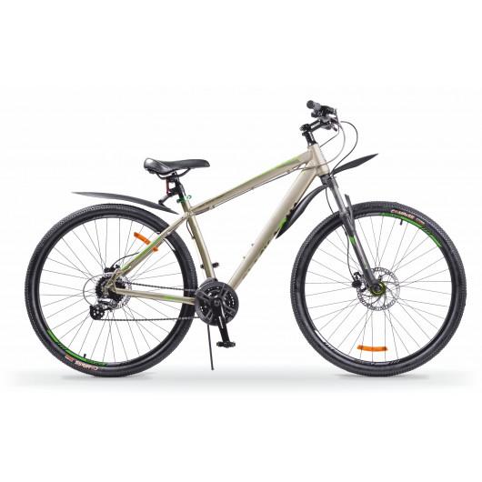 Горный велосипед 29' ba cross 2992 hd matt рама 21'' серо-зеленый gl-505hd