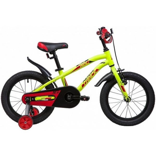 Детский велосипед 16' novatrack prime салатовый