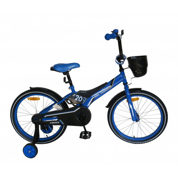 Детский велосипед 14' nameless cross синий/черный