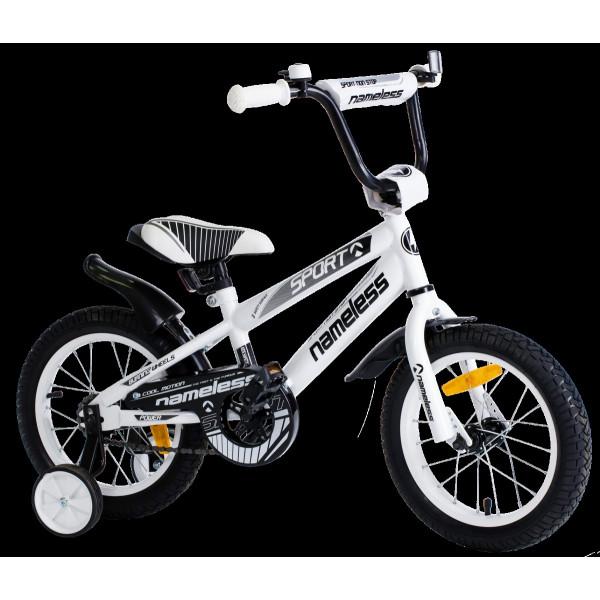 Детский велосипед 18' nameless sport, белый/черный