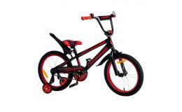Велосипед 14' Nameless SPORT, черный/оранжевый