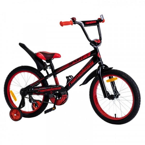 Детский велосипед 14' nameless sport, черный/оранжевый