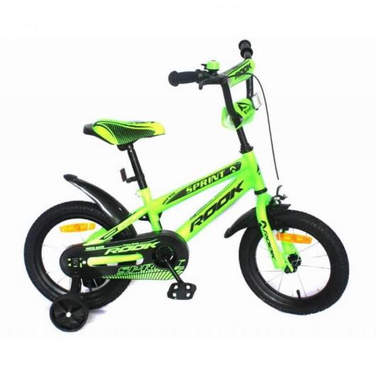 Детский велосипед 14' rook sprint, зелёный kss140gn