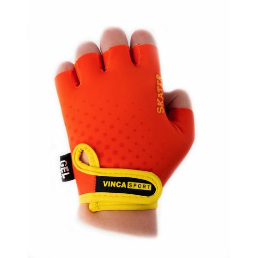 Перчатки велосипедные детские Skater, VG 969, оранжевые с желтым, размер 4XS