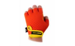 Перчатки велосипедные детские Skater, VG 969, оранжевые с желтым, размер 6XS