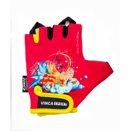 Перчатки велосипедные детские, PRINCESS, VG 937, розовые, размер 4XS